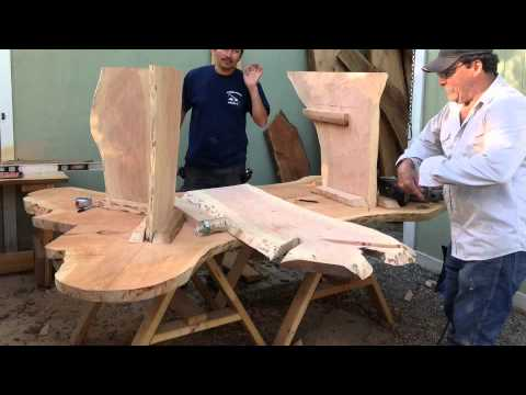 Hand Made Rustic Outdoor Furniture Youtube
