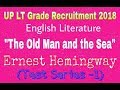 """The Old Man and the Sea"" _ Ernest Hemingway _ LT Grade Test Series."