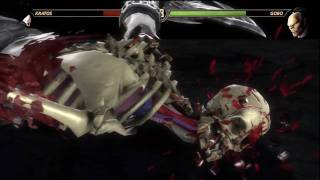 Mortal Kombat 9 All X Ray Moves On Kratos HD 720p