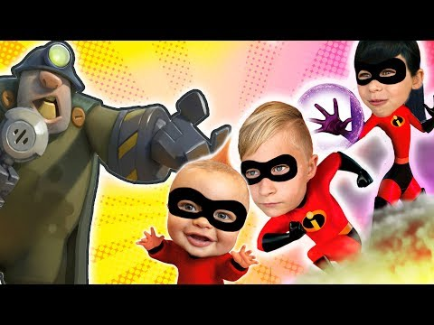 INCREDIBLES 2 Pretend Play Dash Violet And Jack Jack Play At Park And Defeat The Underminer