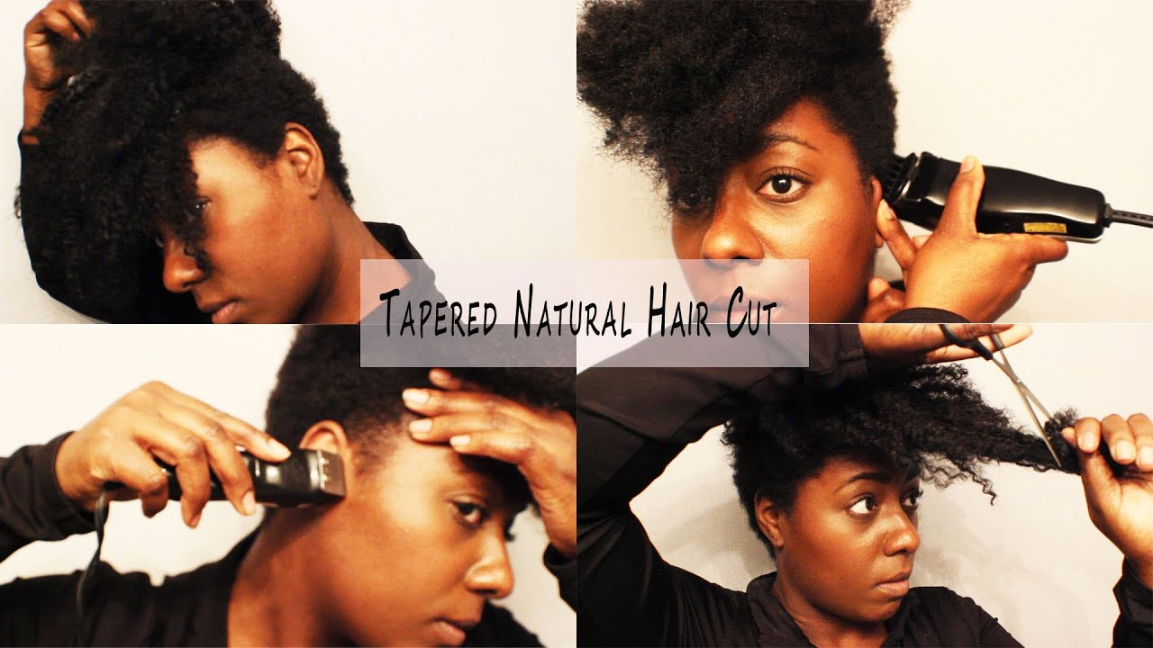 "Natural Hair Cut| How I Tapered It AGAIN Y""ALL....LOL - YouTube"
