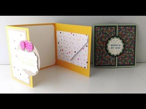 anleitung geldgeschenk karte mit umschlag youtube. Black Bedroom Furniture Sets. Home Design Ideas