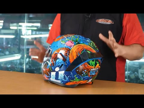 ICON Airflite INKY Helmet Overview With RAU Communication And RST Red Accents