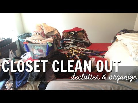 🤯 CLOSET CLEAN OUT 🤯 Declutter & Organize With Me