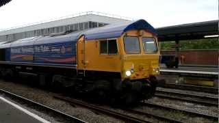 GBRF class 66 struggling including sanding device 15/08/2011