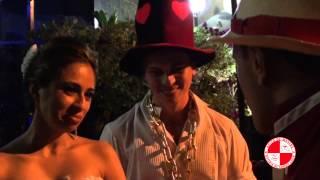Depoimento de casal depois de um show de bateria de escola de samba