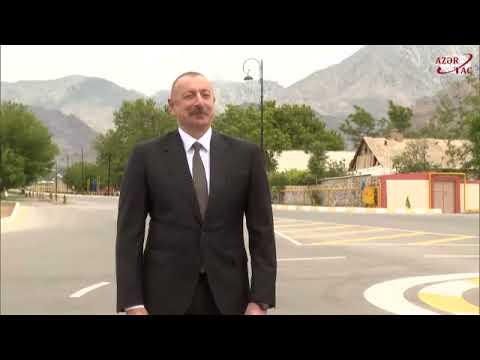 President Ilham Aliyev was interviewed by Azerbaijan Television