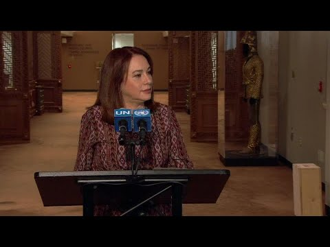 María Fernanda Espinosa addresses media for the first time as General Assembly President