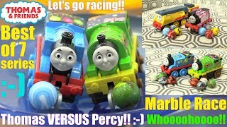 Marble Racing: Thomas the Tank Engine Versus Percy the Small Engine Racing Tournament. Race #60
