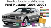 Ford Mustang 2005 2009 Fuse Box Diagrams Youtube