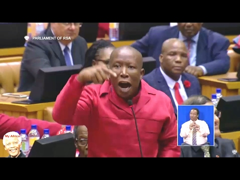 Julius Malema Getting Very Angry SONA 2017