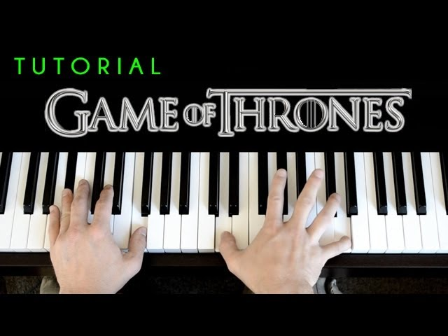 Game Of Thrones Theme Piano Tutorial Cover Chords Chordify