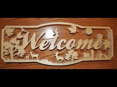 Scrollsawing a welcome sign