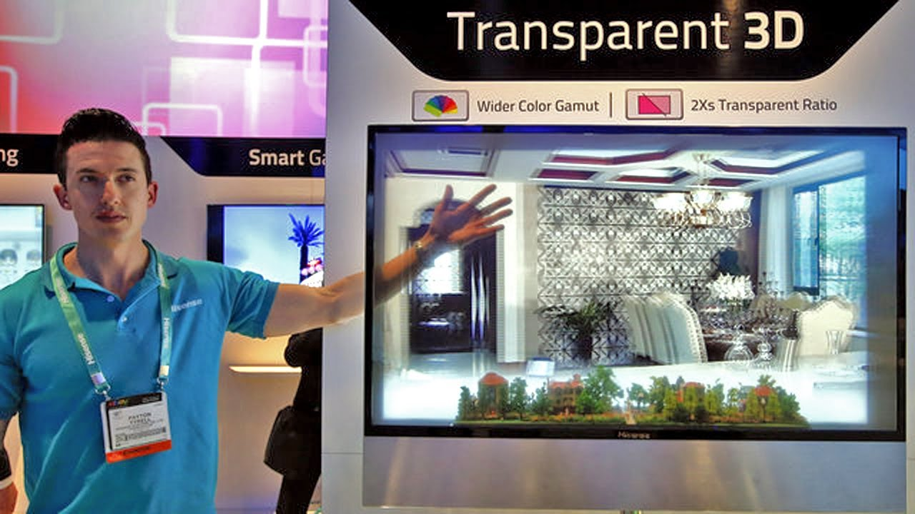 See Thru Tv Amazing See Through Led Display For Transparent 3d Ces 2013