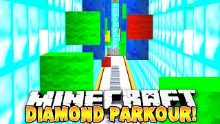 Minecraft - 4 WAY DIAMOND PARKOUR RACE! - w/Preston, Woofless, Nooch & Choco