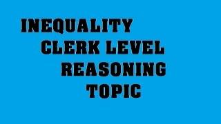 Inequality sum ibps po clerk