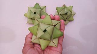 Cách làm hoa bằng lá dừa đơn giản và đẹp (c3) #TOITNT