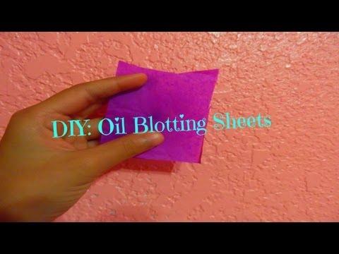 DIY: Oil-Blotting Sheets for $1!!
