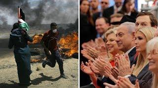 Celebrations in Jerusalem, Gunfire in Gaza: 2 Scenes, 40 Miles Apart | NYT News