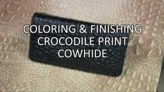 Crocodile Print Checkbook