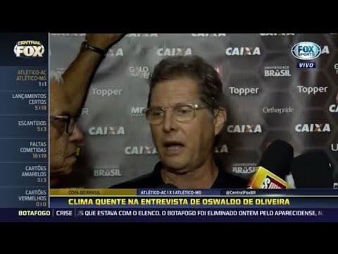Oswaldo de Oliveira parte pra briga com repórter após jogo do Atlético Mineiro