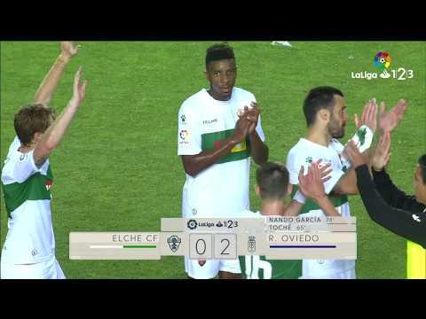 Resumen de Elche CF vs Real Oviedo (0-2)