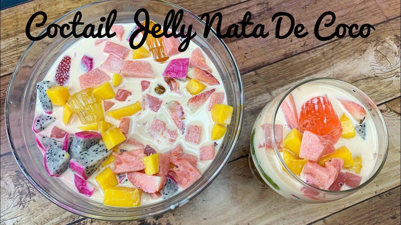 Coctail Jelly Nata De Coco - YouTube