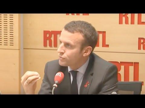 Interview d'Emmanuel Macron sur RTL