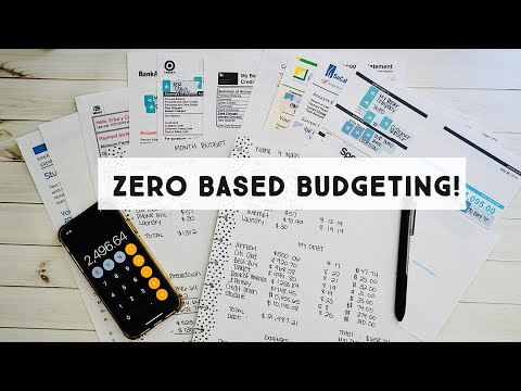 How To Setup A Zero Based Budget | On A Debt Free Journey | Dave Ramsey Inspired