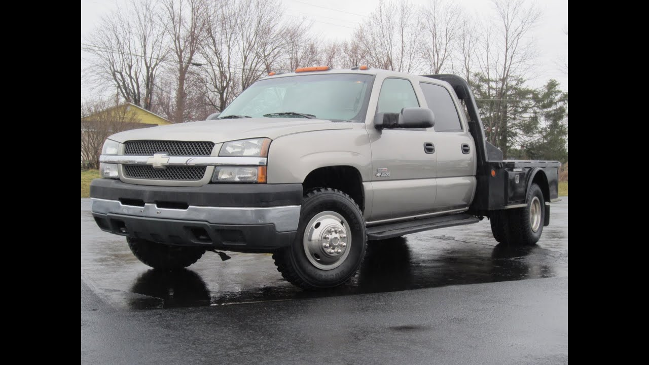 2003 chevy 3500 lt 4x4 duramax diesel 58k miles flat bed sold youtube