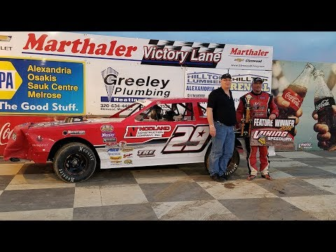 Jeff Crouse Racing.  🏁🏁Feature and Heat win at Viking Speedway.🏁🏁  Street Stock.  5/19/18. GOPRO