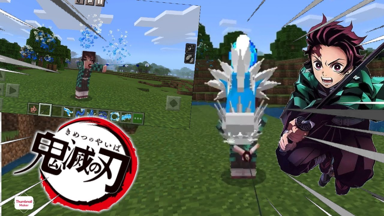 Just to remember this is just a fan made addon.this addon was made by rash nightcore do not claim this addon please if you want. How To Download The New Demon Slayer Kimetsu No Yaiba Mod Addon Inside Minecraft Pe Or Bedrock Youtube