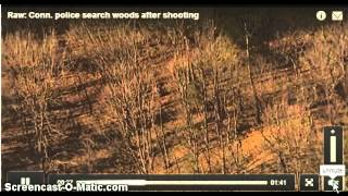 Newtown Shooting ~ Raw Video   2nd Gunmen Being Chased Into Woods    Sandy Hook Connecticut