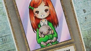 Amelias Puppy - Copic Colouring & Card Tutorial