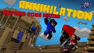 Minecraft Annihilation #1  Война Кланов! Уничтожение Врагов.