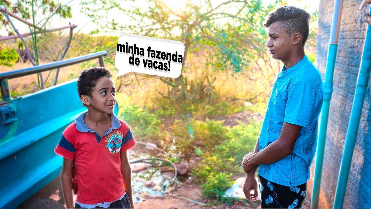 DUDU E A VACA DE 80 LITROS DE LEITE KKKK