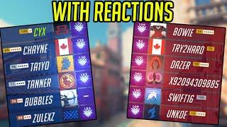 CLOSE HIGH SR MATCH w/ reactions (Overwatch)