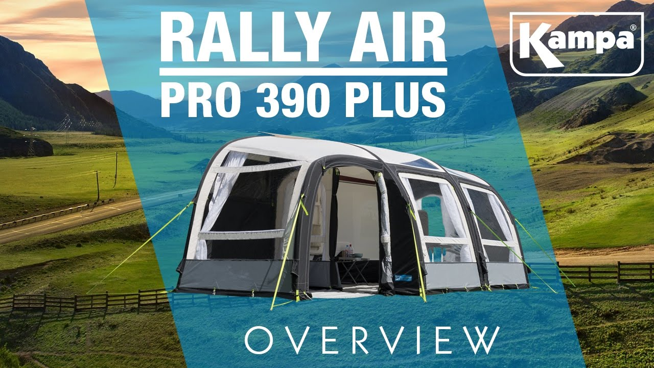 Kampa Rally Air Pro 390 Plus Overview Youtube