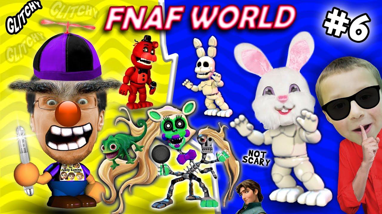 FNAF WORLD #6: The Secret White Rabbit!?!? FGTEEV Duddy without Chase vs.  Brow Boy & Rapunzel - YouTube