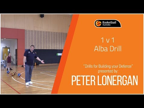Peter Lonergan: Drills for Building your Defence - 1v1 Alba Drill (4/7)