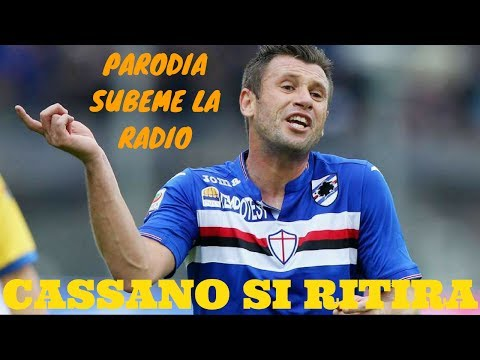 """CASSANO SI RITIRA (PARODIA  """"SUBEME LA RADIO"""" DI ENRIQUE IGLESIAS)"""