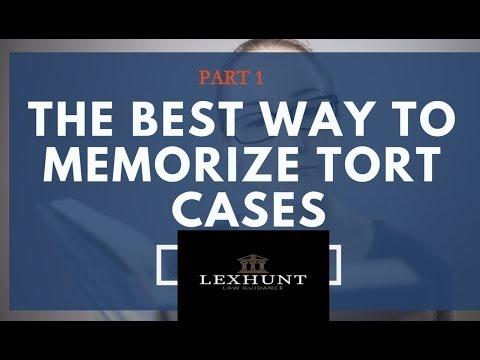 How To Memorise Tort Cases Easily