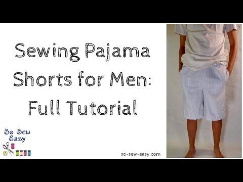 sewing-pajama-shorts-for-men:-full-tutorial