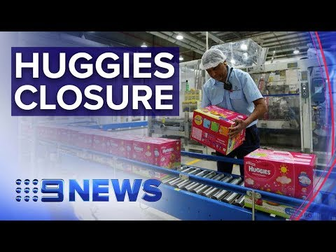 Huggies lays off workers to move offshore | Nine News Australia