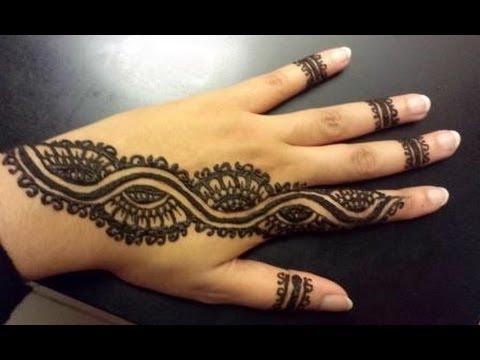 Arabic Henna Strip Simple Pretty Henna Design Youtube