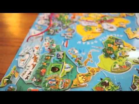 Janod World Map.Janod Magnetic World Youtube