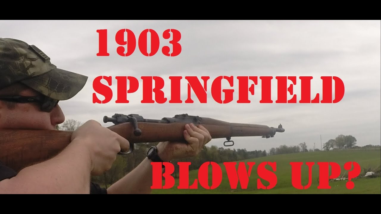 Low Serial Springfield 1903 Blows up in Guy's Face!