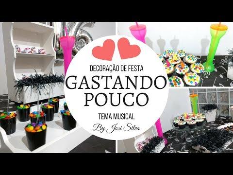 DIY-DECORAÇÃO DE FESTA GASTANDO POUCO TEMA MUSICAL-BY JOSI SILVA