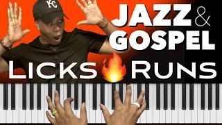 How to Play Jazz & Gospel Licks and Runs   Blues, Pentatonic & Dorian Scales!!!🔥