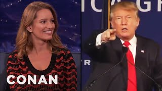 "Katy Tur On Trump Calling Her ""Little Katy""  - CONAN on TBS"